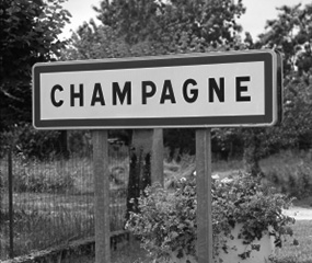 Champagne wine region